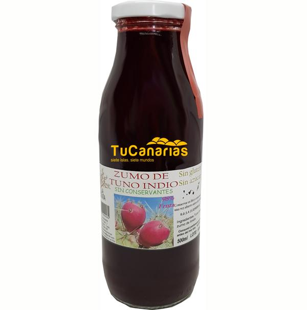 Jugo Tuno Indio Canario 98% de Fruta Pura 500 ml.