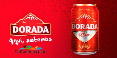 Cervezas Dorada de Canarias. Dorada Beer, Dorada Bier. Aquí sabemos