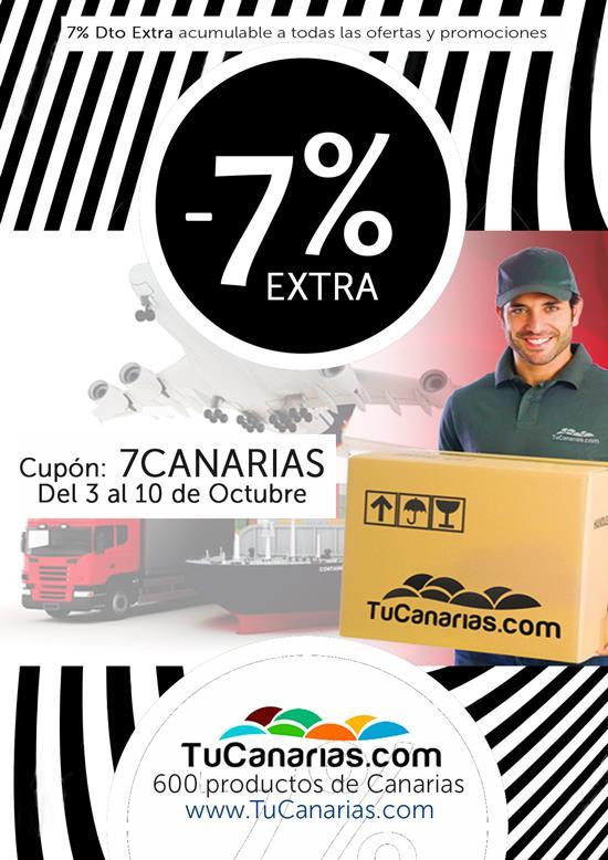 Cupon 7% Descuento en TuCanarias, 600productos de Canarias