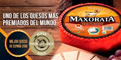 Queso maxorata Pimenton Semicurado Super Oro Mundial World Cheese Awards