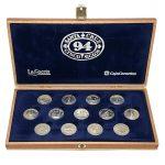 Colección 13 Monedas Santa Cruz Tenerife 5 Siglos Plata, Arras Boda