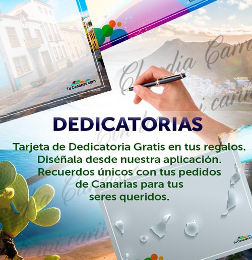 Regalos con Dedicatoria personalizada en TuCanarias.com